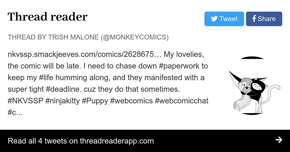 Thread by @monkeycomics:
