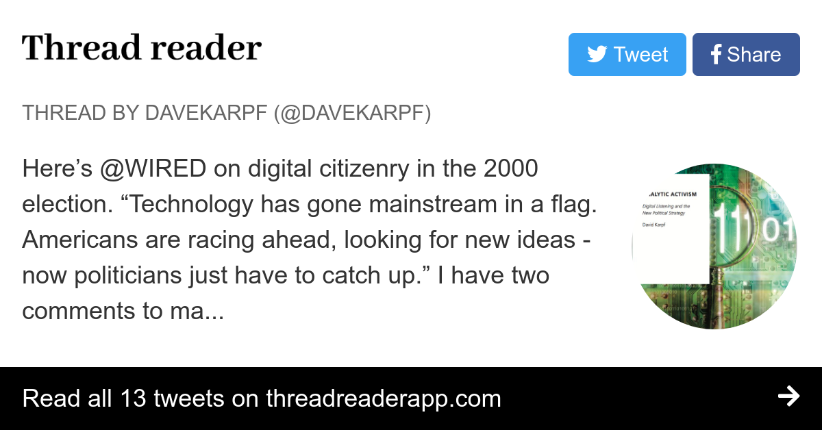 Thread by @davekarpf: \