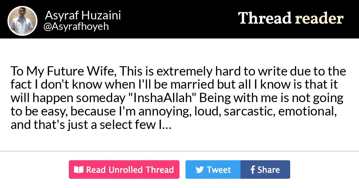 Thread by @Asyrafhoyeh: