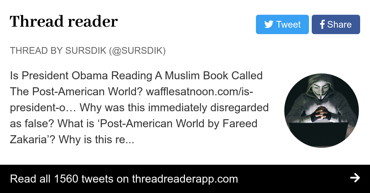 thread by sursdik is president obama reading a muslim book called