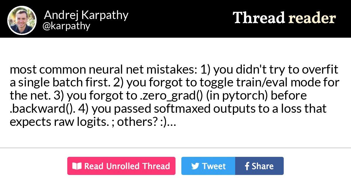 Thread by @karpathy: