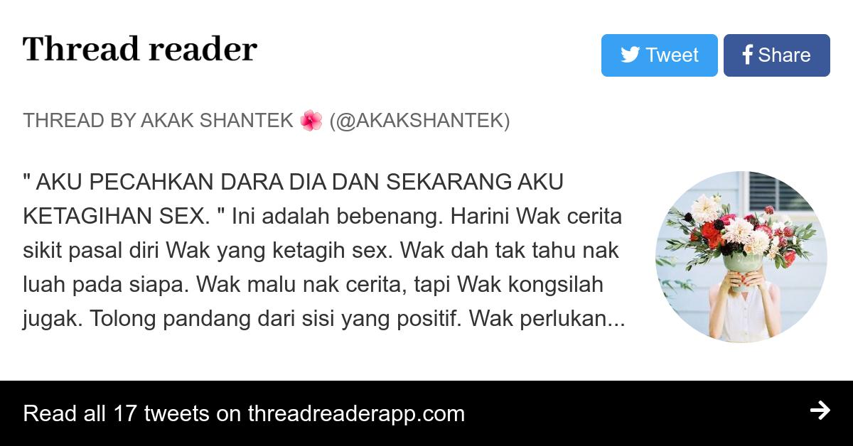Thread by @akakshantek: