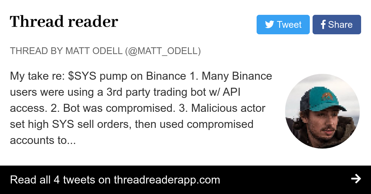 Thread by @matt_odell: