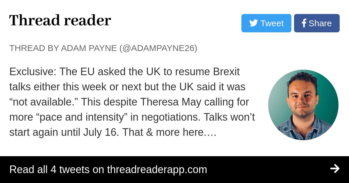 Thread By Adampayne26 Exclusive The Eu Asked The Uk To Resume