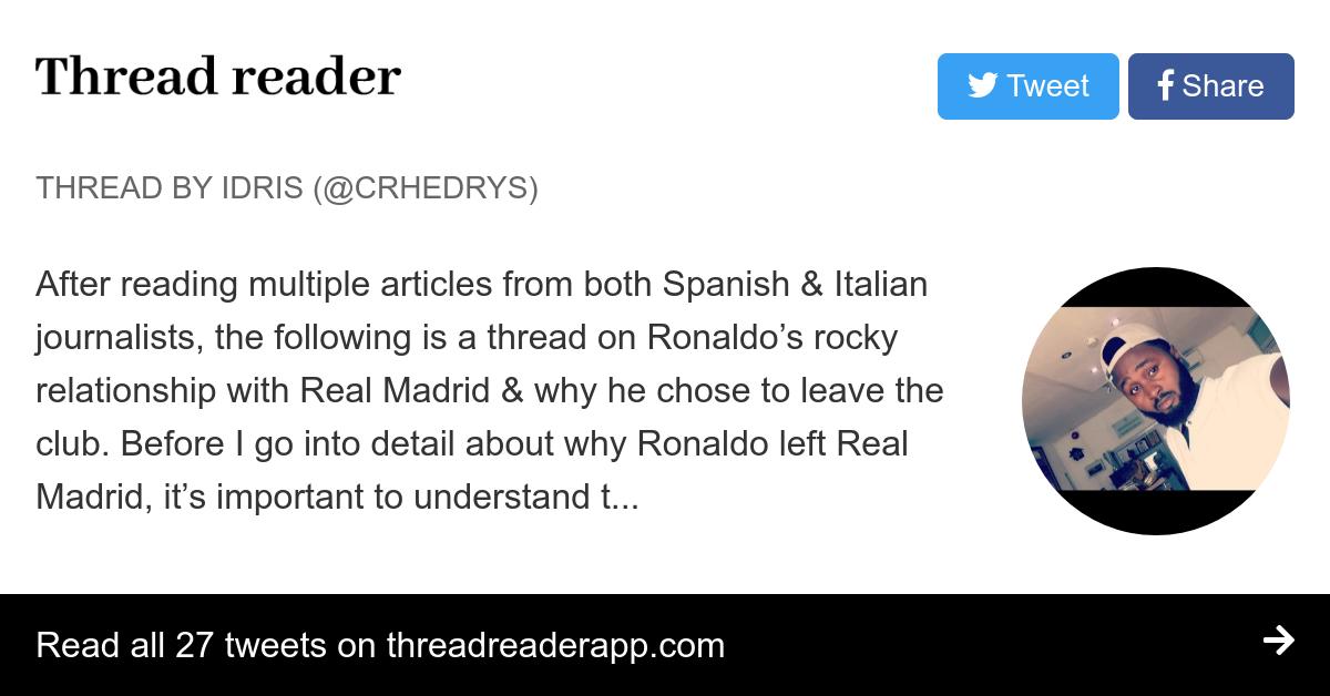 Thread by @Crhedrys: