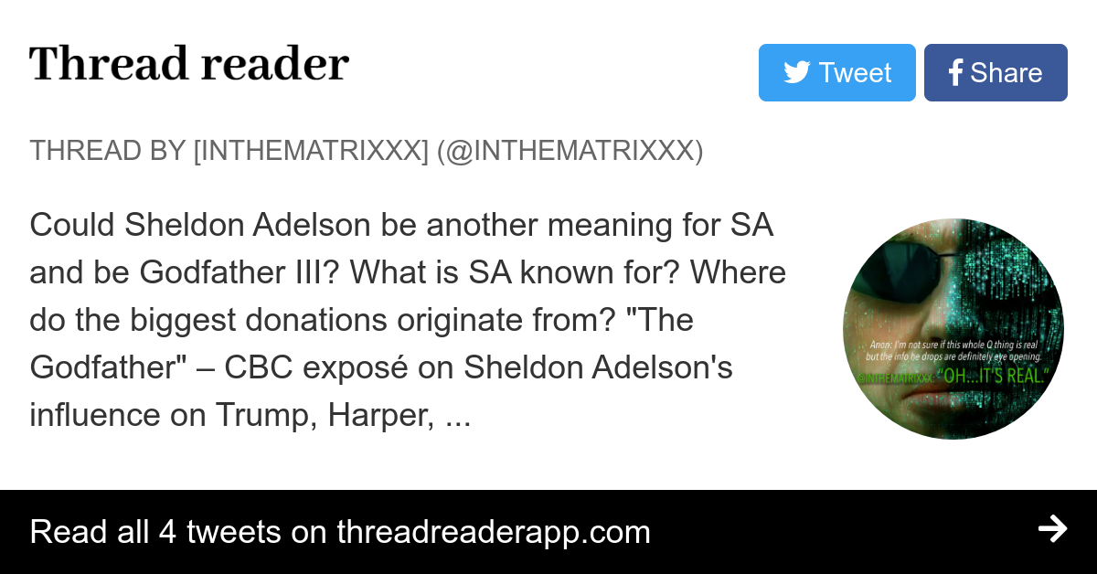 Thread by @intheMatrixxx: