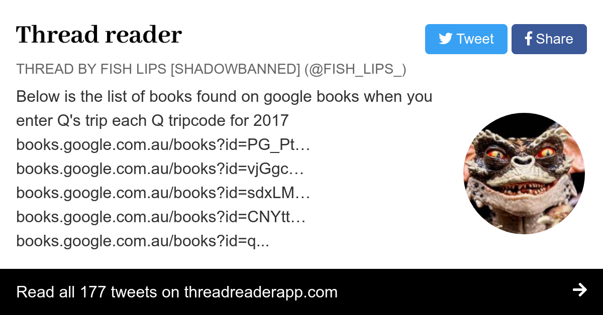 Thread by @Fish_Lips_:
