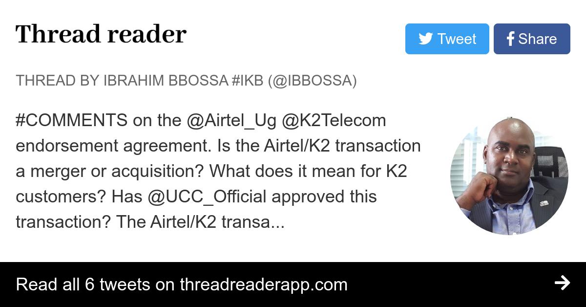 Thread By Ibbossa On The Airtelug K2telecom Endorsement