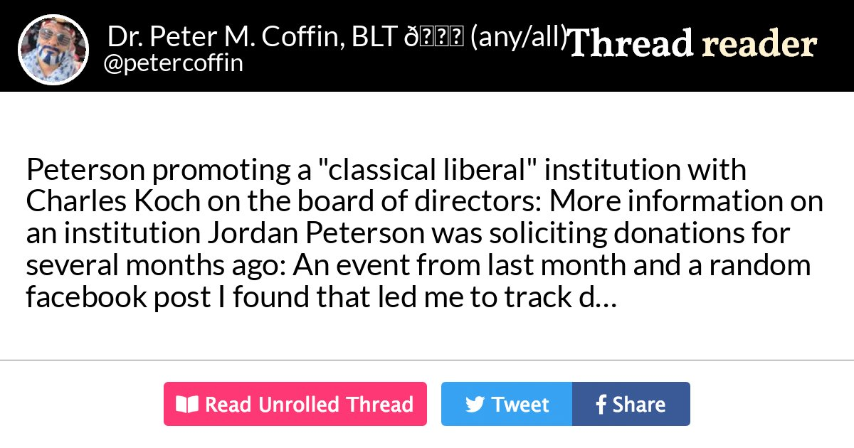 Thread by @petercoffin: