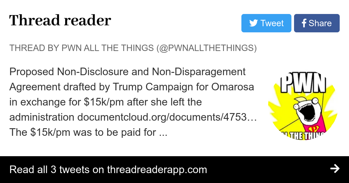 Thread By Pwnallthethings Proposed Non Disclosure And Non