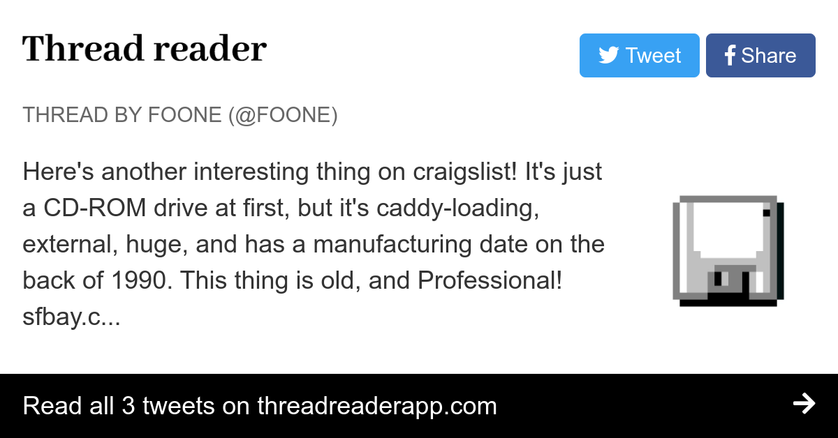 Thread By Foone Here S Another Interesting Thing On Craigslist