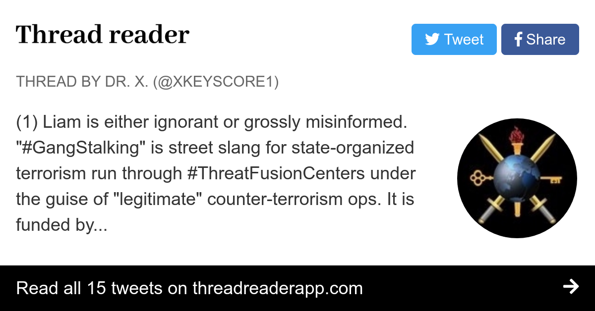 Thread by @XKeyscore1: