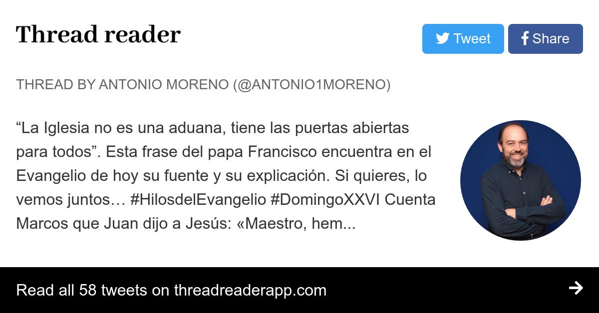 Thread By At Antonio1moreno La Iglesia No Es Una Aduana