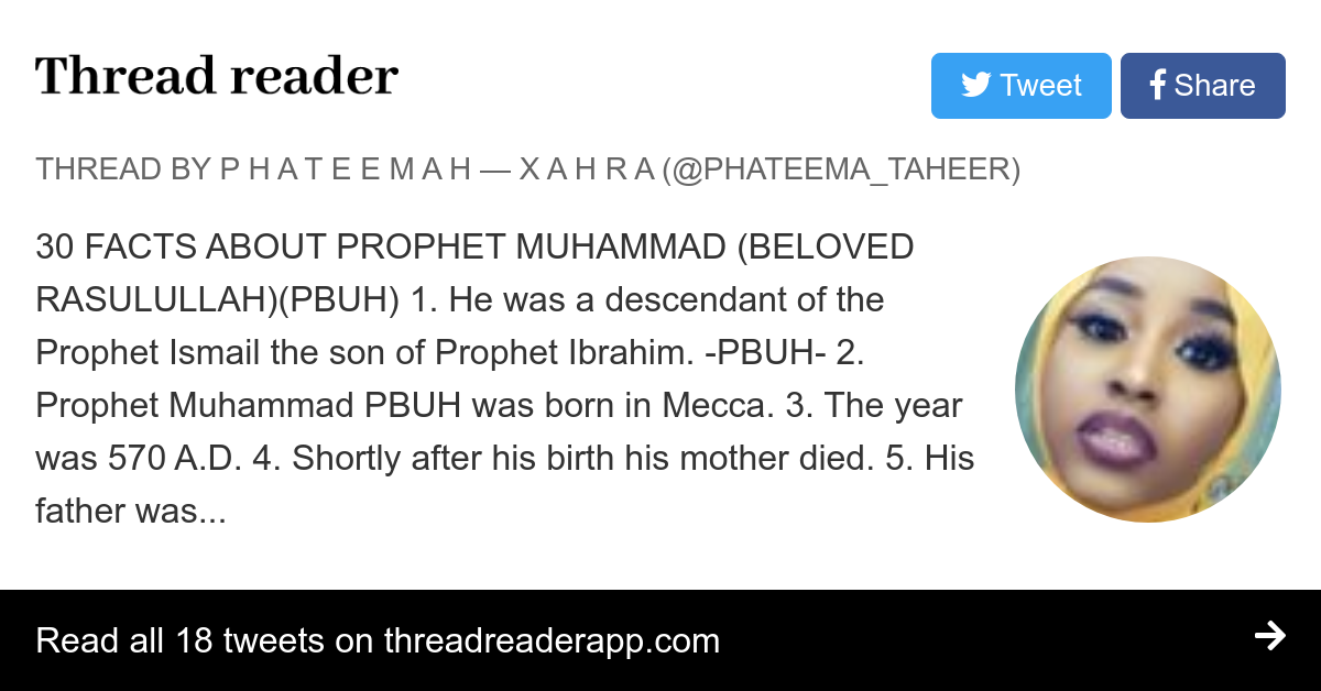 Thread by @phateema_taheer: