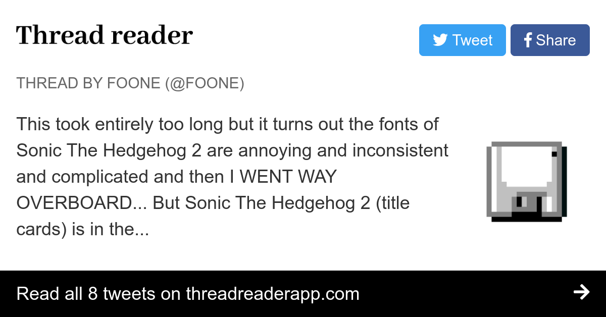 Thread By Foone This Took Entirely Too Long But It Turns Out The Fonts Of Sonic The Hedgehog 2 Are Annoying And Inconsistent And Complicated And Then I Went