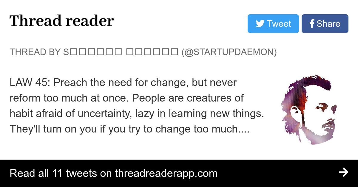 Thread by @startupdaemon: