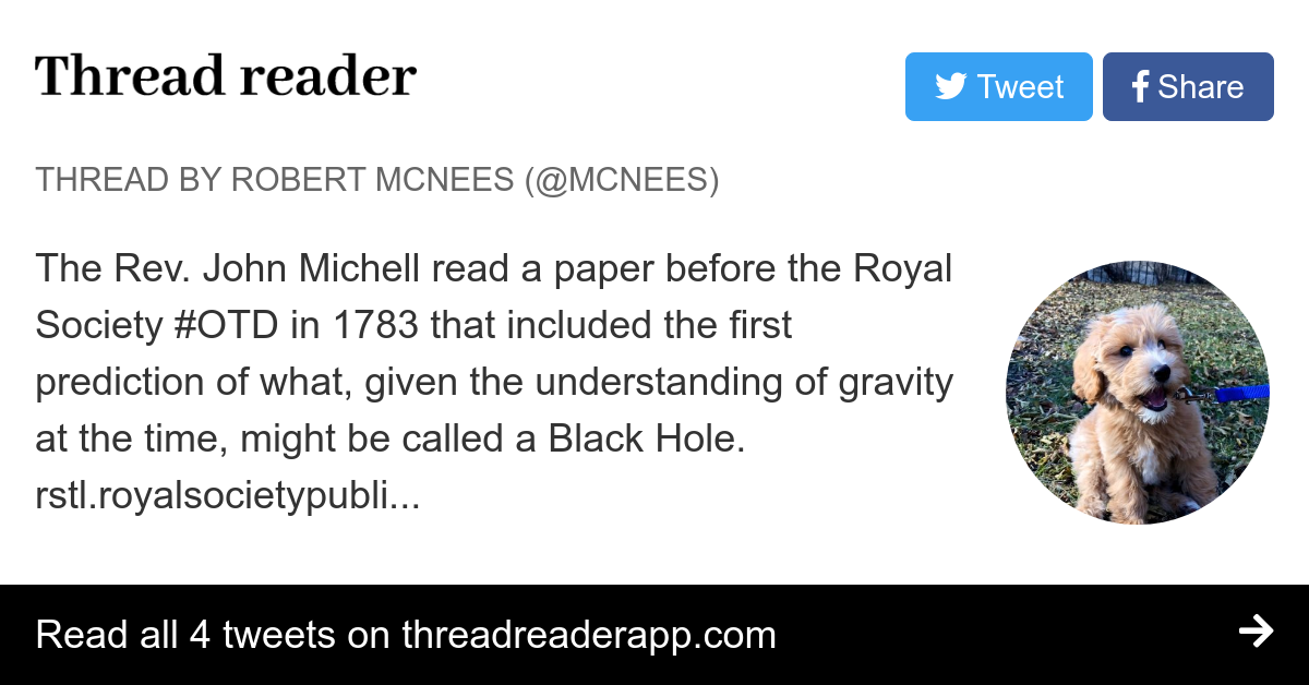 john mitchell black holes