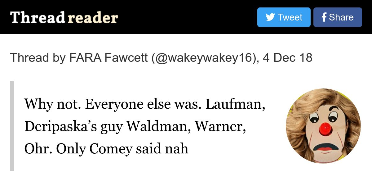 Thread By At Wakeywakey16 Why Not Everyone Else Was Laufman