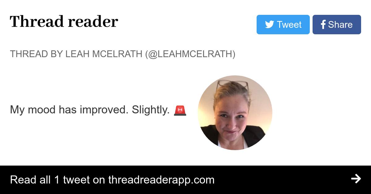 Thread by @leahmcelrath: