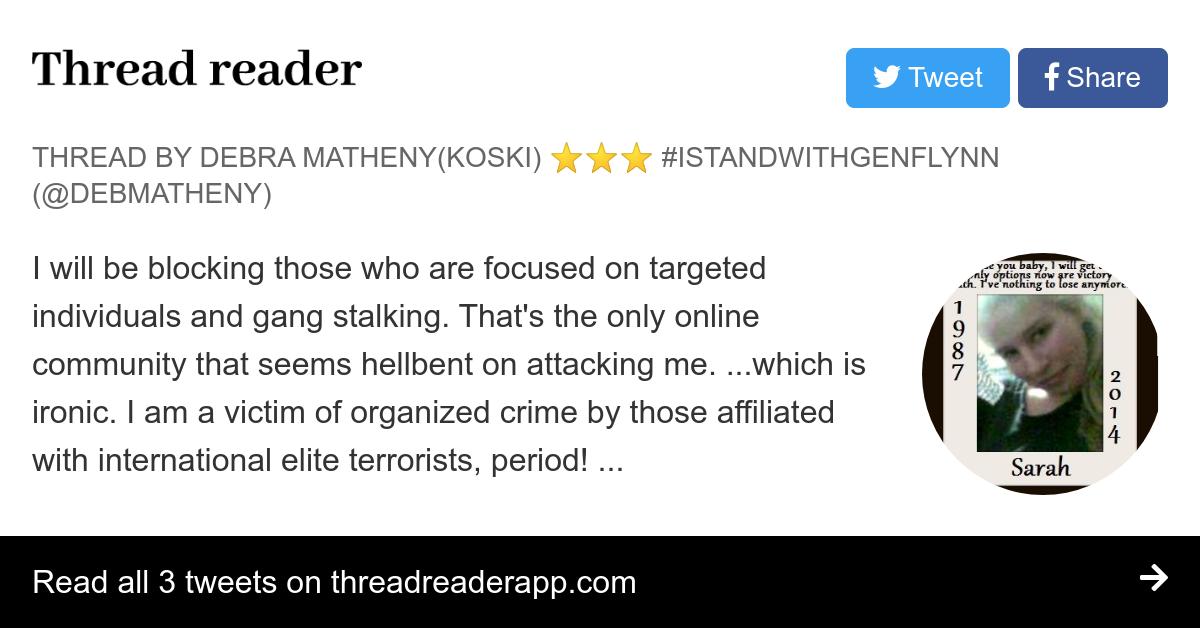 Thread by @DebMatheny: