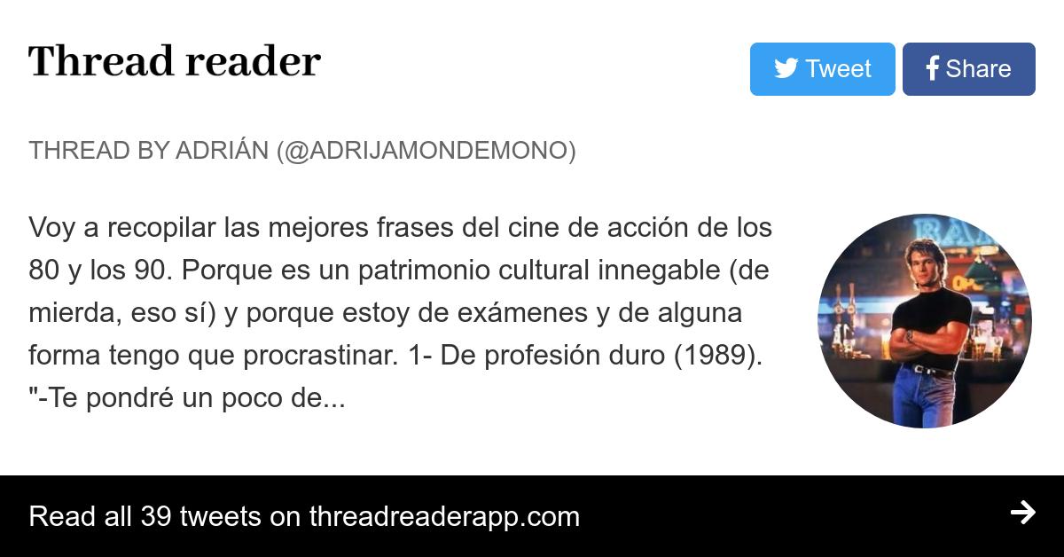 Thread By At Adrijamondemono Voy A Recopilar Las Mejores