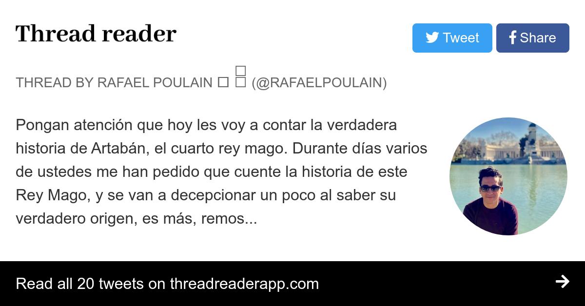 Thread by @RafaelPoulain: \