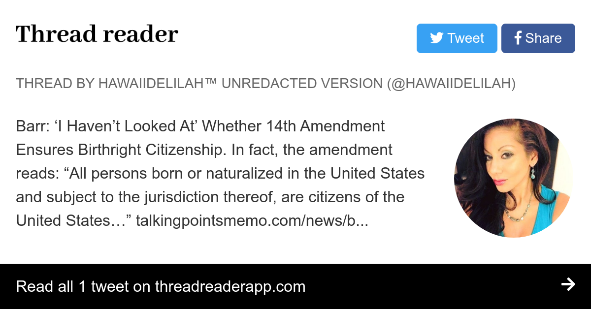 Thread By At Hawaiidelilah Barr I Havent Looked At Whether 14th