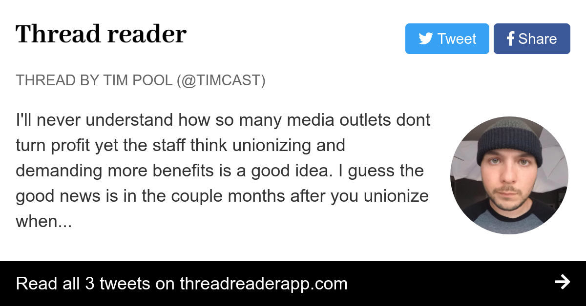 Thread by @Timcast:
