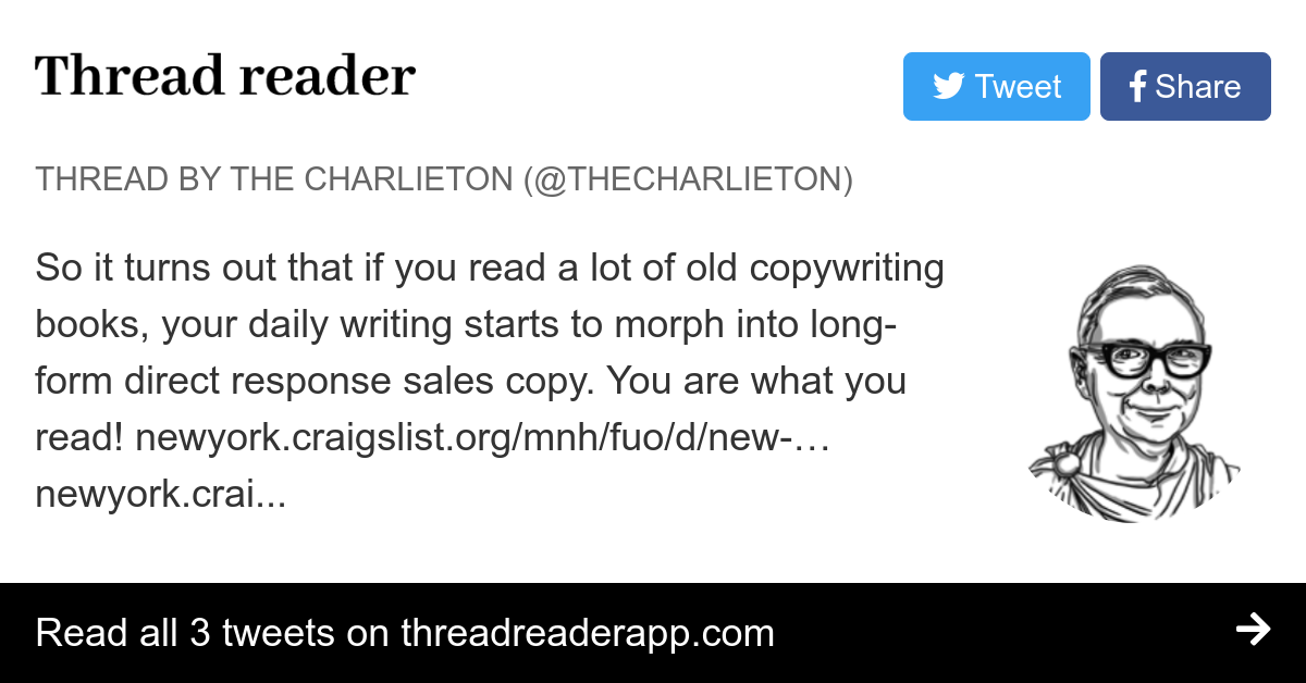 Thread By Thecharlieton So It Turns Out That If You Read A Lot Of