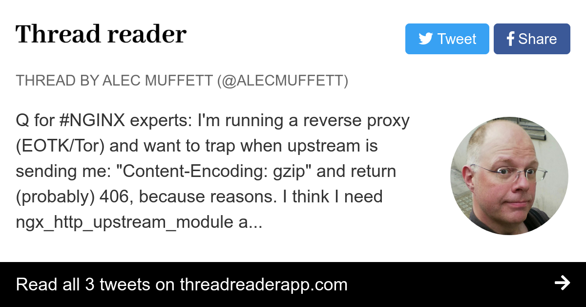Thread by @AlecMuffett: