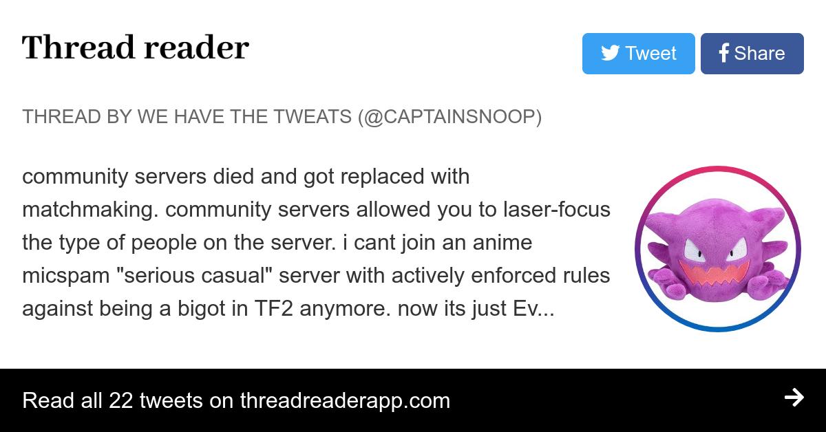 TF2 server matchmaking