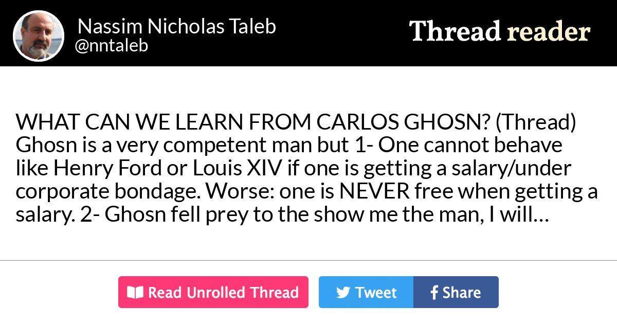 Thread by @nntaleb: