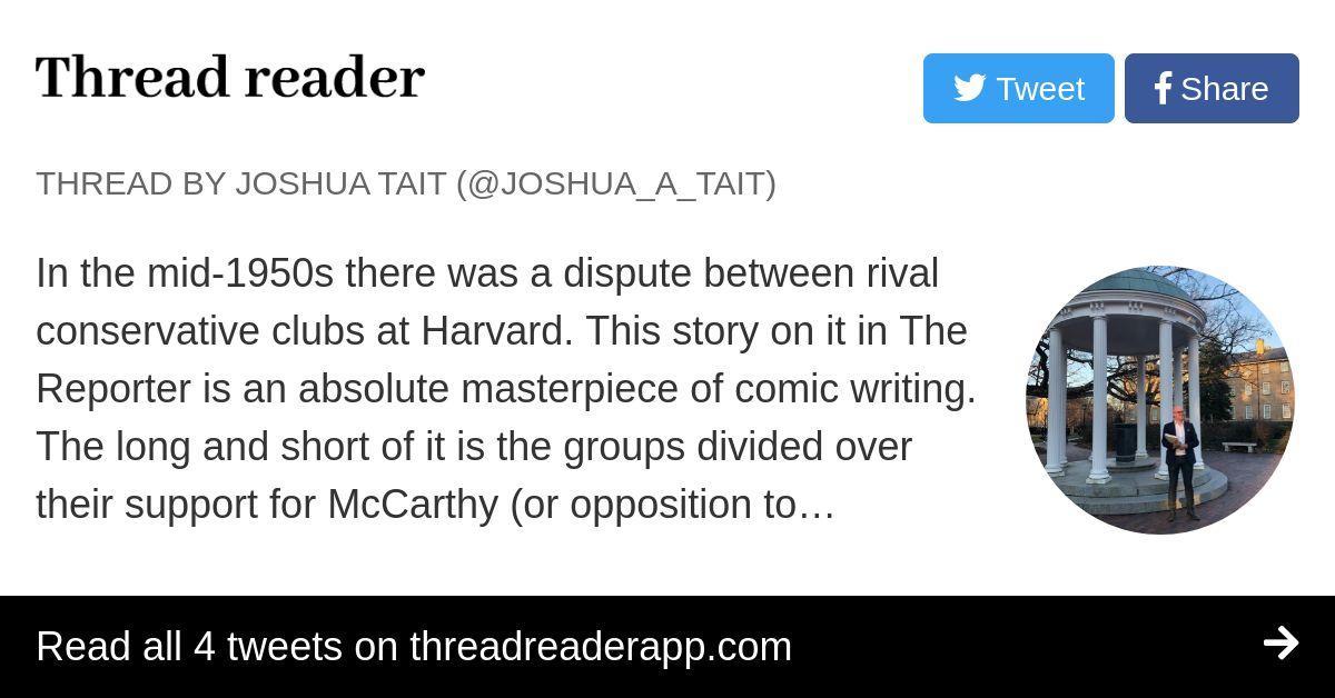 Thread by @Joshua_A_Tait: