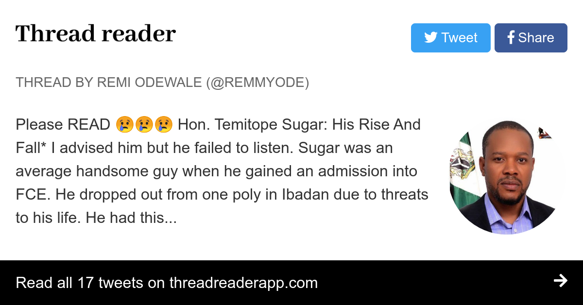 Thread by @remmyode: