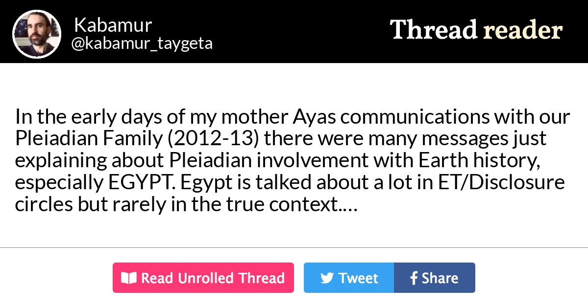 Thread by @kabamur_taygeta: