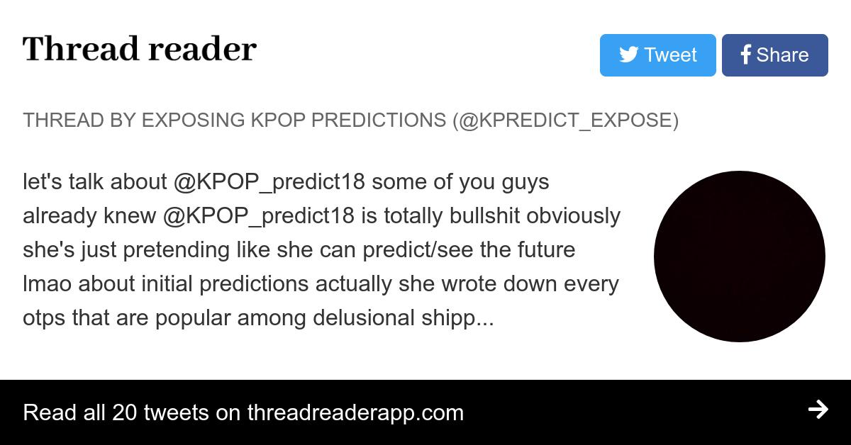Kpop Predictions Twitter