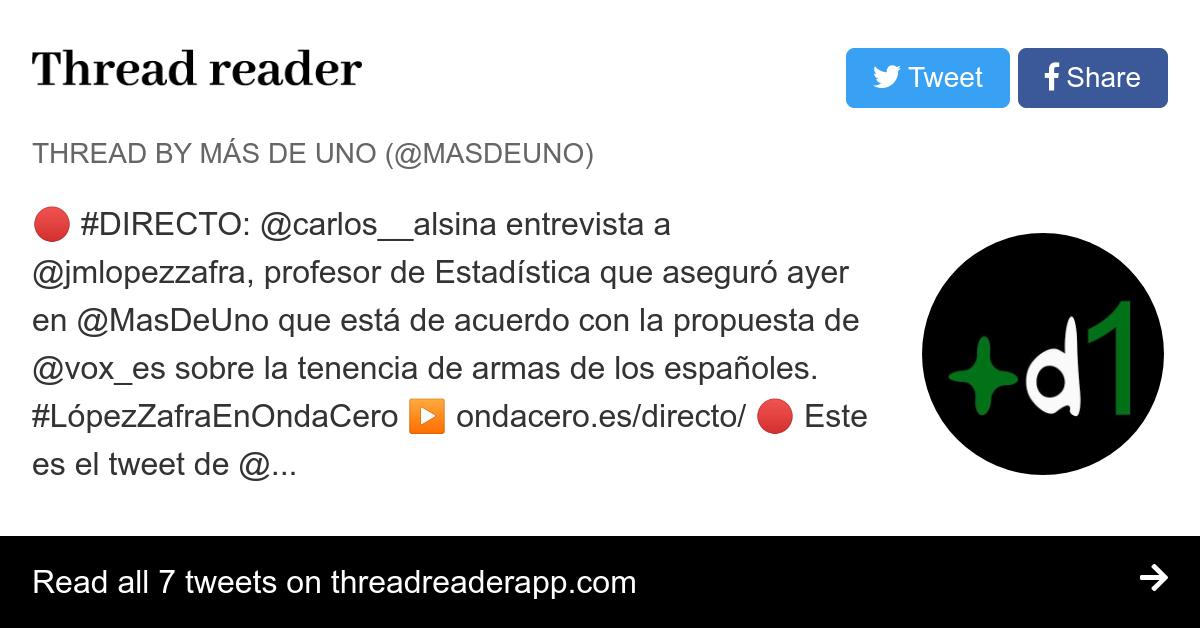Thread by @MasDeUno: \
