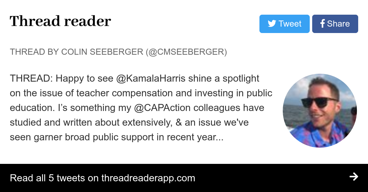 Fixing Chronic Disinvestment In K 12 >> Thread By Cmseeberger Thread Happy To See Kamalaharris Shine A