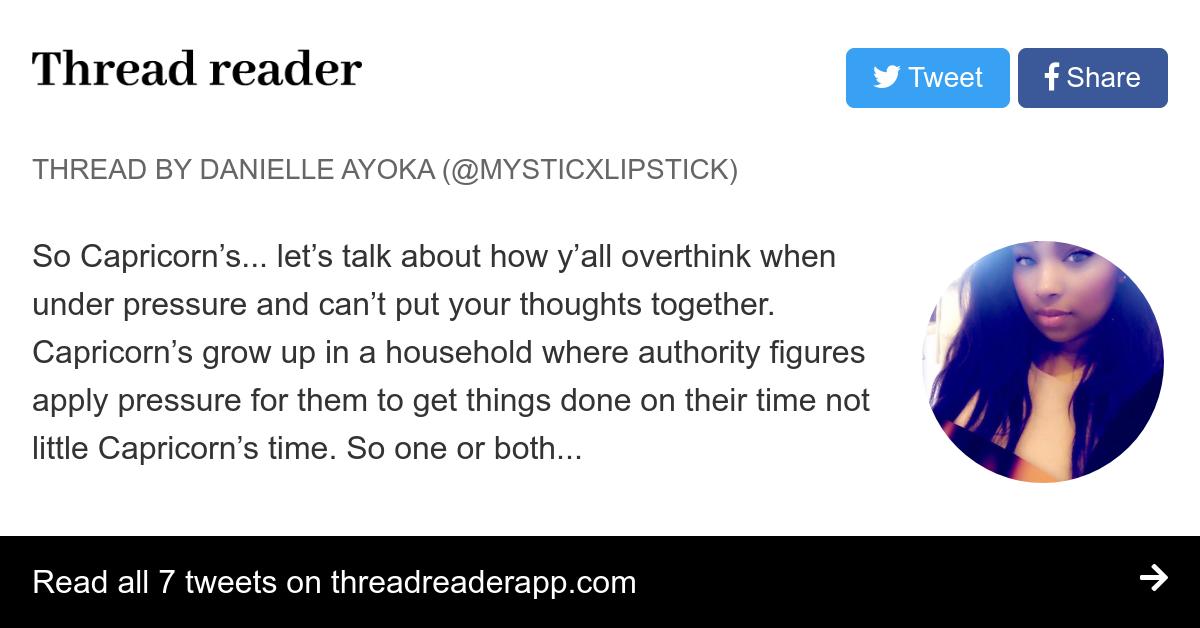 Thread by @MysticxLipstick: