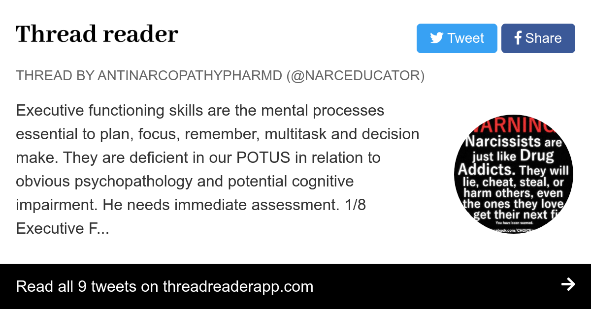 Executive Function Essential Part Of >> Thread By Narceducator Executive Functioning Skills Are The