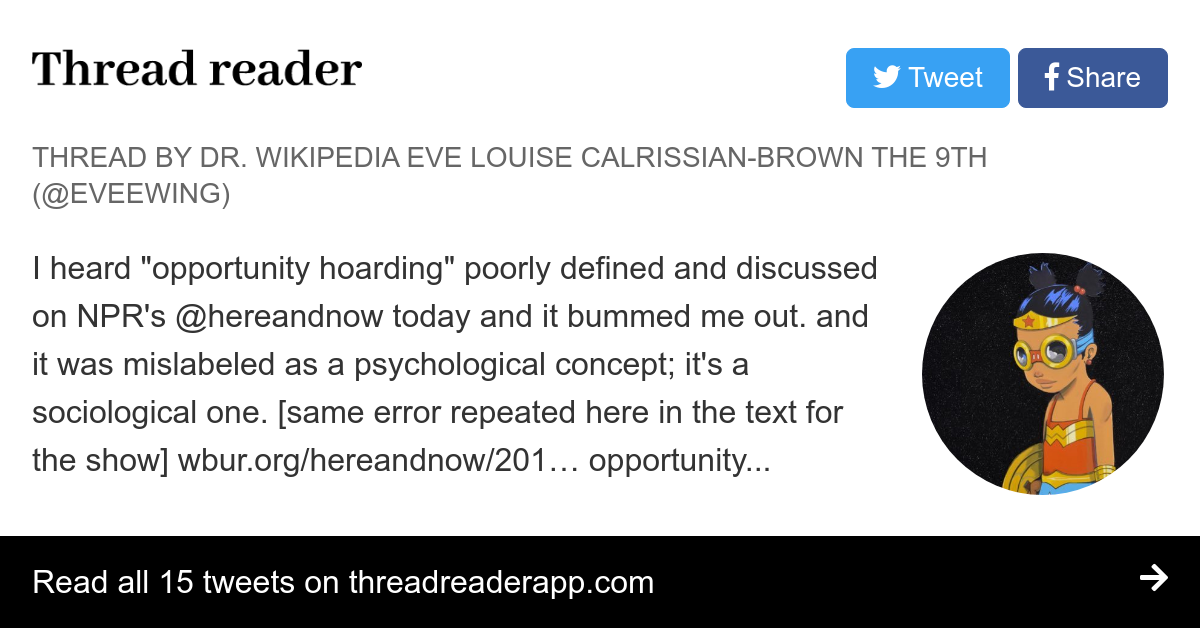 Thread by @eveewing: