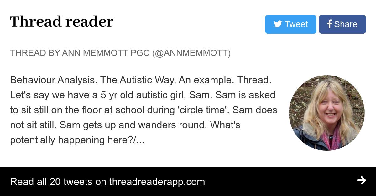Thread by @AnnMemmott: