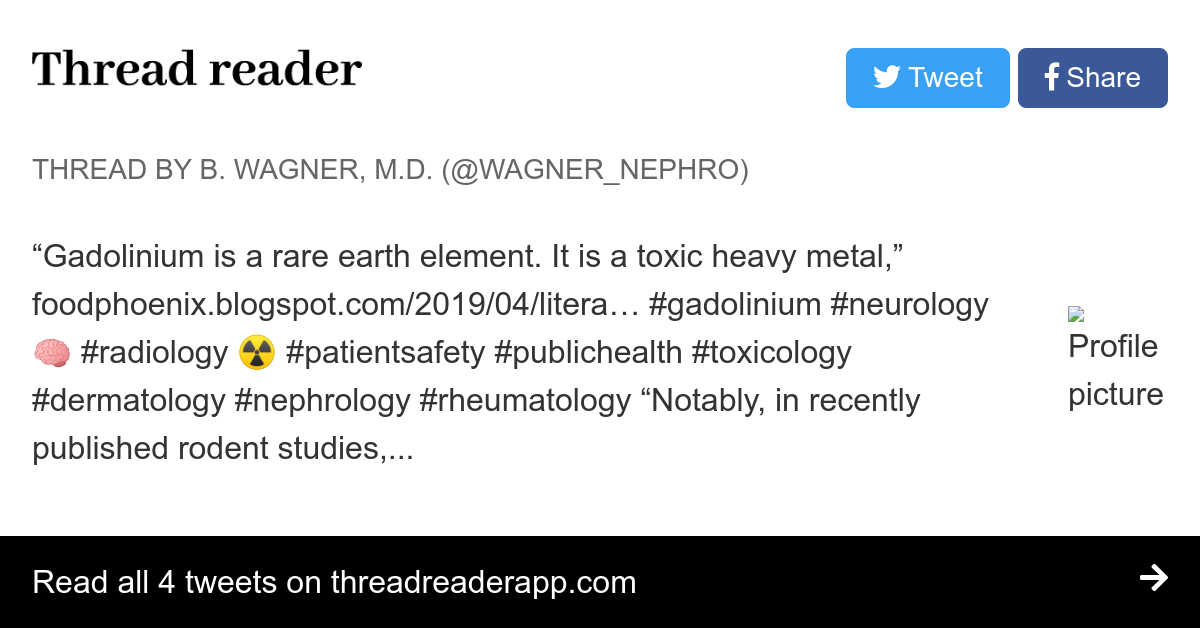 Thread by @Wagner_Nephro: