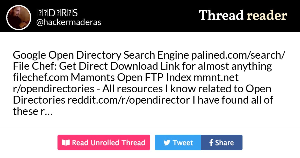 Thread by @hackermaderas: