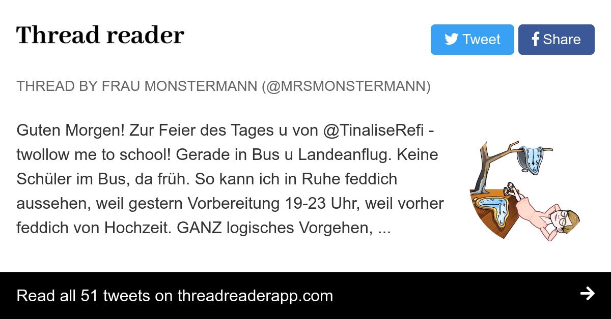 Thread By At Mrsmonstermann Guten Morgen Zur Feier Des