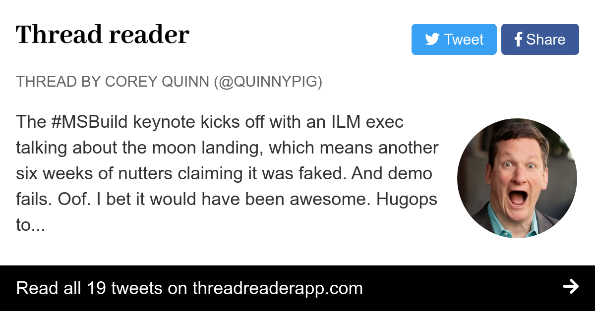 Thread by @QuinnyPig: