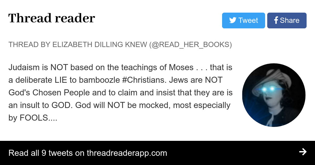 "Jew Detector: Thread By @Read_Her_Books: ""Judaism Is NOT Based On The"