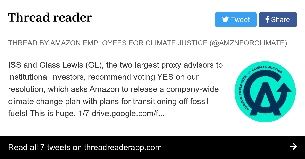 Thread by @AMZNforClimate: