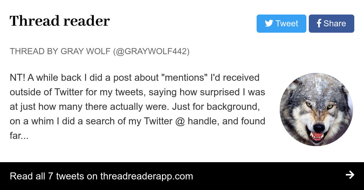 Thread by @graywolf442: