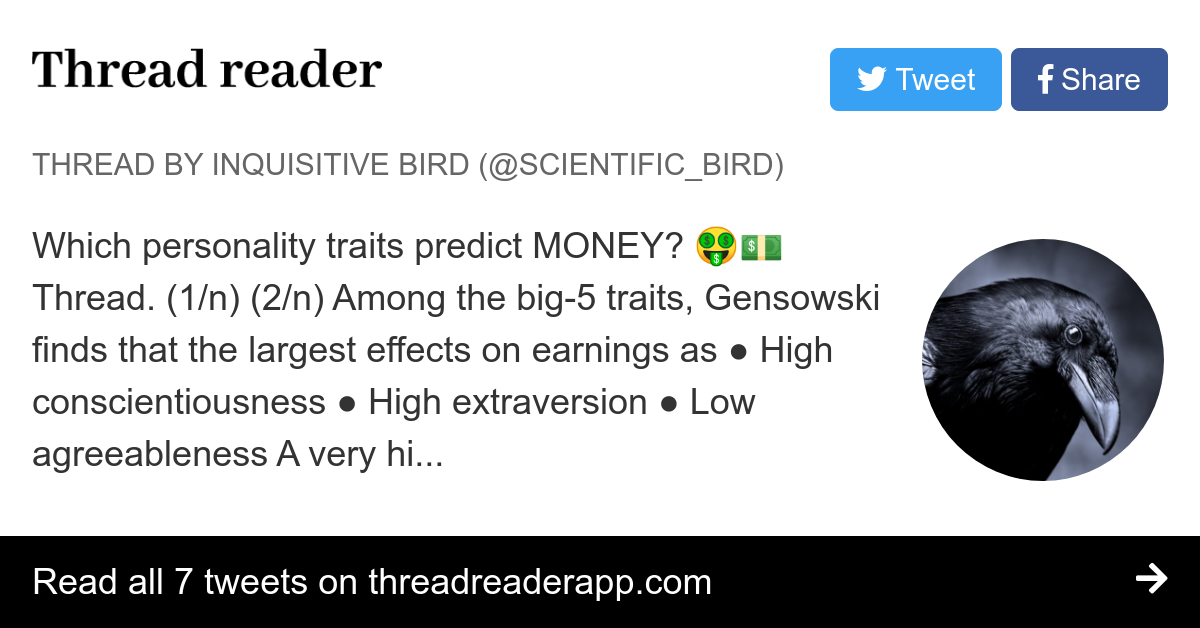 Thread by @Scientific_Bird: